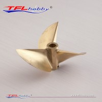CNC 3 blade copper Propeller 67x1.7x6.35mm