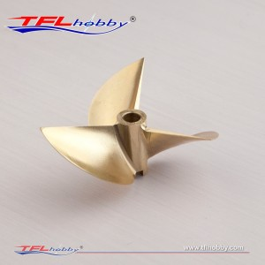 TFL CNC Machined 3blade copper Propeller70x1.6x6.35mm for FSR-OX2 racing boat