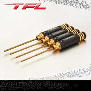 TFL RC Tool Titanium Steel Hexagon Screwdriver 4pcs Kits for RC Model T1605-01/02