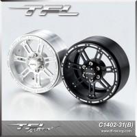 TFL 2.2 Inch CNC Aluminum Alloy 7-spoked Beadlock Wheels designB for RC Car