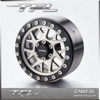 TFL 2.2 Inch CNC Beadlock Wheel With The Hub designD/E/G for RC Car C1402-33/34/36