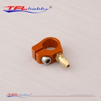 Stuffing tube clamp with oil fitting