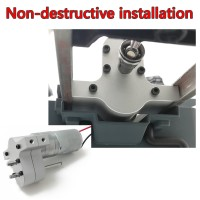 Non-destructive installation Speed Change Gear Box Metal Gearbox With 370 Brush Motor for WPL JJRC MN Model(Free Shipping)